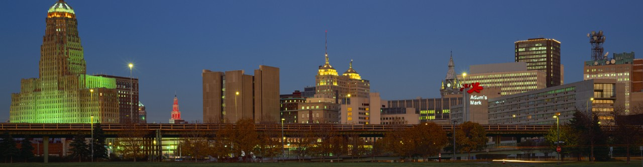 albany skyline at night image