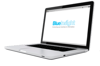 Laptop with the blue insight page open